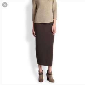 NWT Eileen Fisher Knitted Wool Long Pencil Skirt